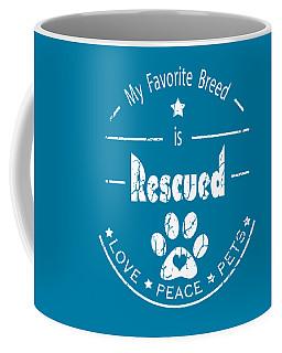 Rescued Love Peace Pets Light Coffee Mug
