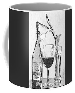 Reserved Table For One In Black And White Coffee Mug