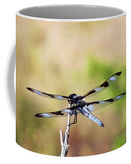 Rest Area, Dragonfly On A Branch Coffee Mug