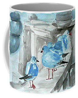 Coffee Mug featuring the painting Rest By The Sea by Jasna Dragun