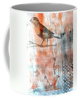 Coffee Mug featuring the mixed media Restful Moment by Rose Legge
