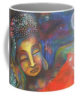 Buddha Resting Under The Full Moon  Coffee Mug by Prerna Poojara