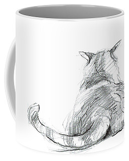 Resting Cat Coffee Mug