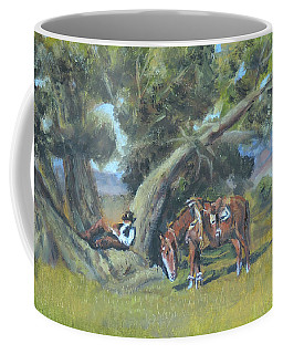 Coffee Mug featuring the painting Resting Cowboy Painting A Study by Katalin Luczay