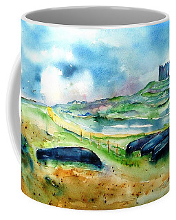 Coffee Mug featuring the painting Resting Currachs On Inisheer Island by Trudi Doyle