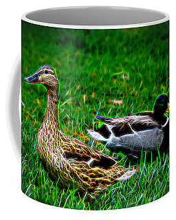 Coffee Mug featuring the photograph Resting Ducks by Mariola Bitner