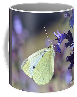 Coffee Mug featuring the photograph Resting In The Purple by Kerri Farley