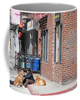 Coffee Mug featuring the photograph Resting On The Corner by Rob Hans