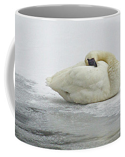 Resting Swan-signed-#1314 Coffee Mug by J L Woody Wooden