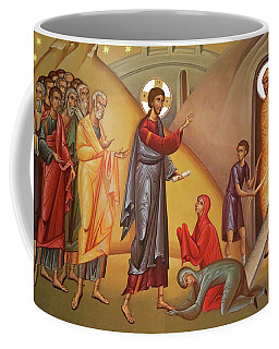 Coffee Mug featuring the painting Resurrection Of Lazarus by Munir Alawi
