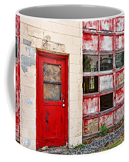 Coffee Mug featuring the photograph Retired Garage by Christopher Holmes