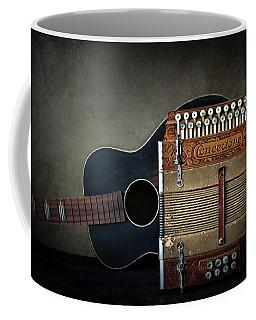 Retired Guitar And Accordian Coffee Mug by David and Carol Kelly