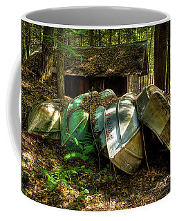 Coffee Mug featuring the photograph Retired Rowboats by David Patterson