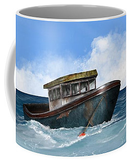 Coffee Mug featuring the digital art Retiring From The Fleet by Mark Taylor