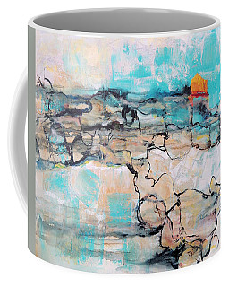 Coffee Mug featuring the painting Retreat by Mary Schiros