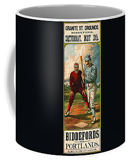 Retro Baseball Game Ad 1885 B Coffee Mug