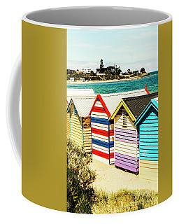 Retro Beach Boxes Coffee Mug