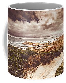 Retro Beach Tracks Coffee Mug
