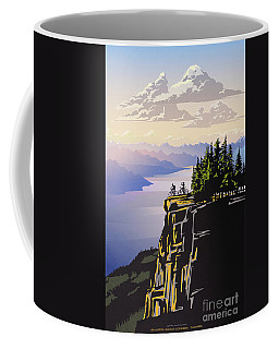 Retro Beautiful Bc Travel Poster Coffee Mug