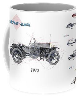Retro Car In Sketch Style Coffee Mug
