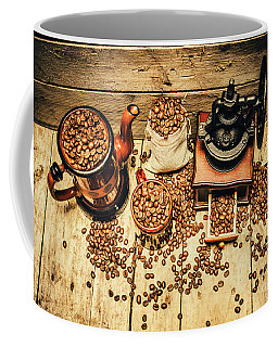 Retro Coffee Bean Mill Coffee Mug by Jorgo Photography - Wall Art Gallery