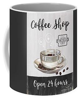 Coffee Mug featuring the painting Retro Coffee Shop 1 by Debbie DeWitt