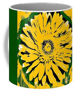 Retro Daisy Coffee Mug by Marsha Heiken