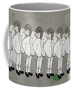 Coffee Mug featuring the photograph Retro Girl by Art Block Collections