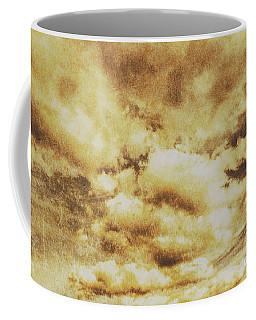 Retro Grunge Cloudy Sky Background Coffee Mug