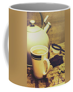 Retro Kettle With The Mug Of Tea Coffee Mug