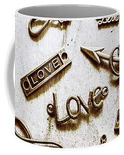 Retro Love Heart Jewels  Coffee Mug