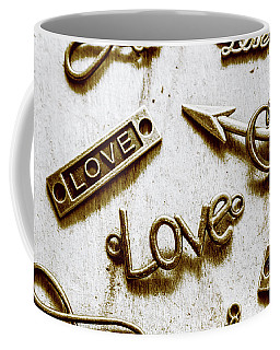 Retro Love Heart Jewels  Coffee Mug