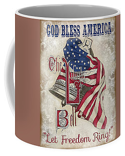 Coffee Mug featuring the digital art Retro Patriotic-a by Jean Plout