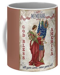 Coffee Mug featuring the digital art Retro Patriotic-b by Jean Plout