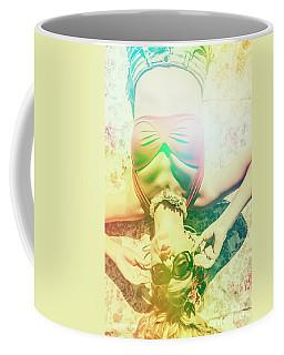 Retro Pin-up Pool Party Coffee Mug