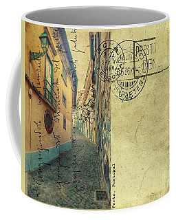 retro postcard of Porto, Portugal  Coffee Mug