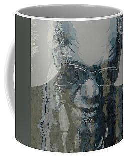 Coffee Mug featuring the mixed media Retro / Ray Charles  by Paul Lovering