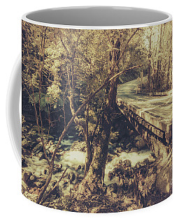 Retro River Crossing Coffee Mug
