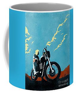 Retro Scrambler Motorbike Coffee Mug