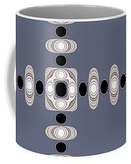 Coffee Mug featuring the digital art Retro Shapes 1 by Fran Riley