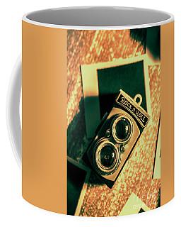 Retro Toy Camera On Photo Background Coffee Mug