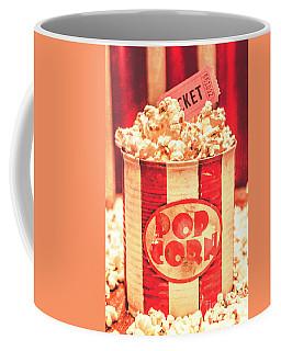 Retro Tub Of Butter Popcorn And Ticket Stub Coffee Mug
