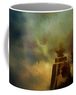 Coffee Mug featuring the digital art Revelation#8 by Karo Evans