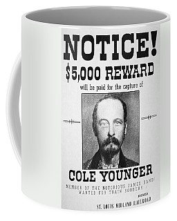 Reward Poster For Thomas Cole Younger Coffee Mug