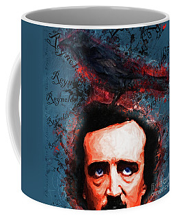 Coffee Mug featuring the photograph Reynolds I Became Insane With Long Intervals Of Horrible Sanity Edgar Allan Poe 20161102 Sq by Wingsdomain Art and Photography