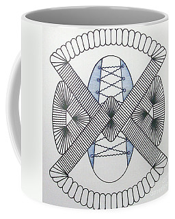 Coffee Mug featuring the drawing Rfb1001 by Robert F Battles