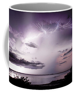 White Lightning Coffee Mug by Quinn Sedam