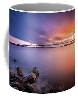 Rhine Bridge Sunset Coffee Mug