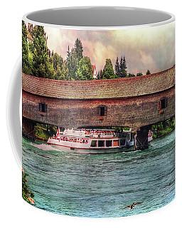 Coffee Mug featuring the photograph Rhine Shipping by Hanny Heim