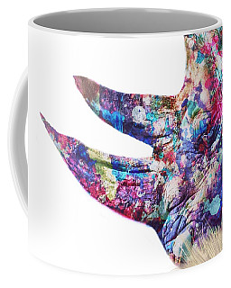 Coffee Mug featuring the painting Rhino by Mark Taylor